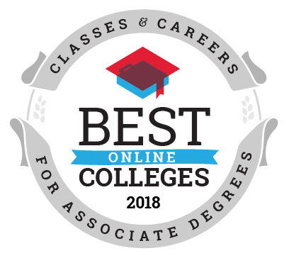 Best Online Colleges for Associate Degree Programs ranking seal