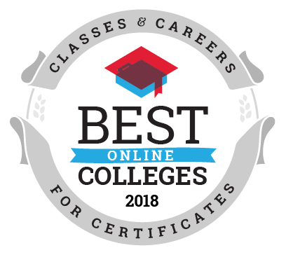 Best Online Colleges for Certificate Programs ranking seal
